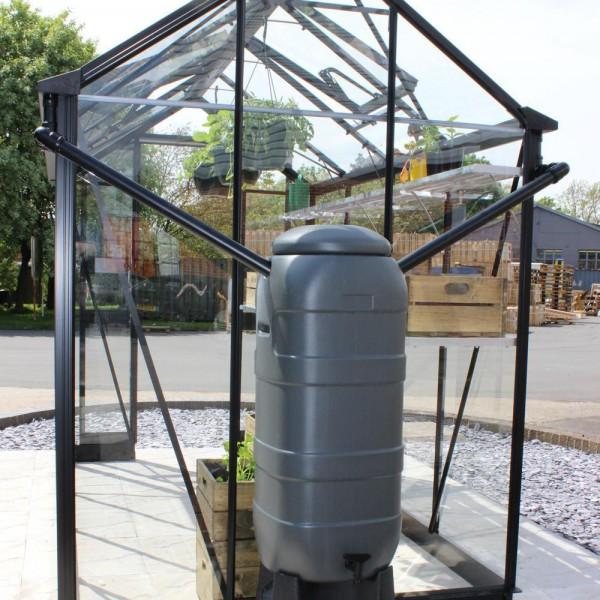 System zbierania deszczówki ze szklarni